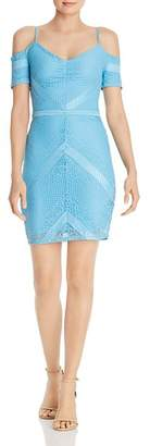 GUESS Danessa Cold-Shoulder Lace Dress