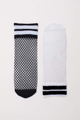 H&M 2-pack Fishnet Socks - Black