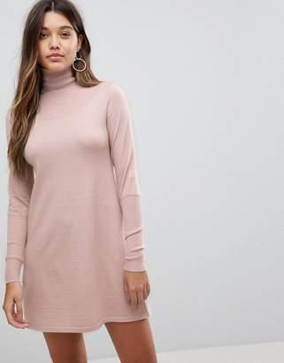 Fashion Union Turtleneck Knitted Mini Dress