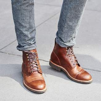 J.Crew Kenton leather cap-toe boots