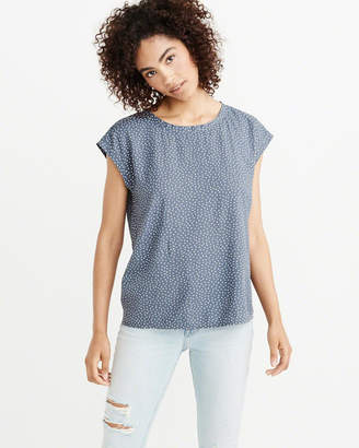 Abercrombie & Fitch Woven Tee