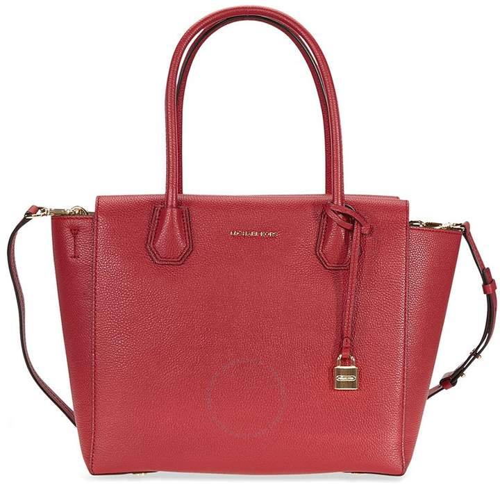 Michael Kors Mercer Satchel- Burnt Red - ONE COLOR - STYLE