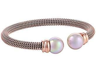 Majorica Steel Bangle Bracelet