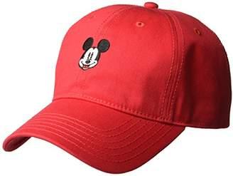 Disney Men's Mickey Curved Brim Baseball Cap