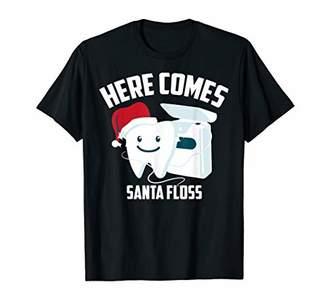 Here Comes Santa Floss   Cool Orthodontists X-Mas Gift T-Shirt