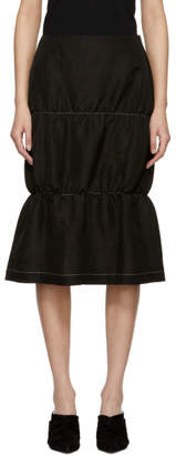 Wales Bonner Black Gathered Skirt