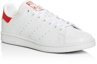 Adidas Men's Stan Smith Lace Up Low Top Sneakers $75 thestylecure.com