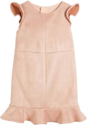 Milly Paneled Stretch Sueded Dress Size 4-7
