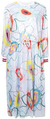 Mira Mikati printed sequin dress