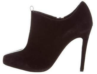 Jerome C. Rousseau Suede Square-Toe Booties
