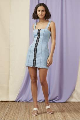 Finders Keepers EVELYN MINI DRESS washed blue