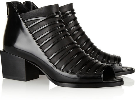 3.1 Phillip Lim Dede open-toe leather ankle boot