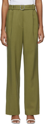 Sies Marjan Khaki Wool Canvas Blanche Trousers