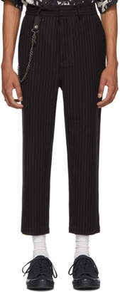 Black Pinstriped Sid Trousers