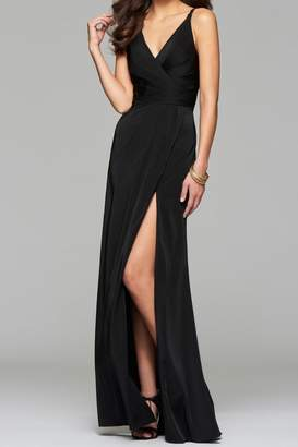 Faviana Elegant Satin Dress