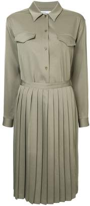 08sircus pleated skirt shirt dress