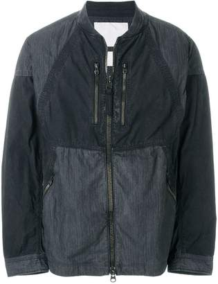 White Mountaineering panelled shirt jacket