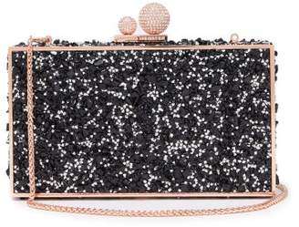 Sophia Webster Clara Crystal Embellished Box Clutch - Womens - Black Multi