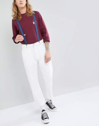 Asos DESIGN Suspenders In Denim Look