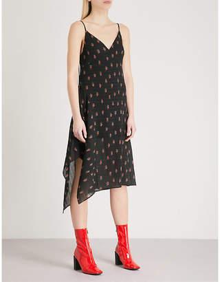 Mo&Co. Floral-print crepe midi dress