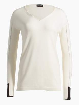 St. John Jersey Knit V-Neck Sweater