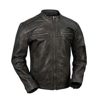 Whet Blu Men's Cruiser Leather Jacket