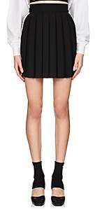 Palm Angels Women's Floral-Tape Pleated Miniskirt - Black