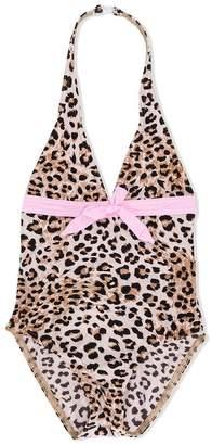 Elizabeth Hurley Kids leopard print swimsuit