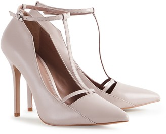 Reiss Louise - T-bar Court Shoes in Nude