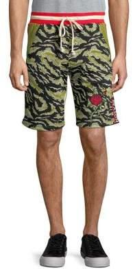 Reason Printed Drawstring Shorts