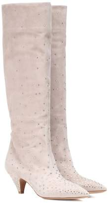Valentino embellished suede boots