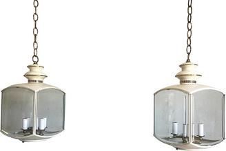 One Kings Lane Vintage Chinoiserie Pavilion Lanterns - Set of 2 - C the Light Interiors
