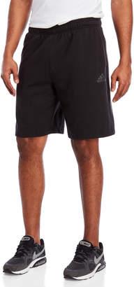 adidas Black Essential Cotton Fleece Shorts
