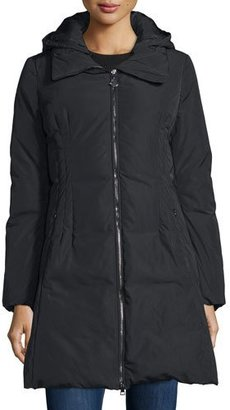 Moncler Renne Down Matte Coat, Black $1,225 thestylecure.com