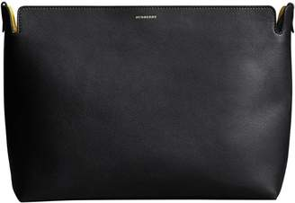 Burberry The Large Tri-tone Leather Clutch