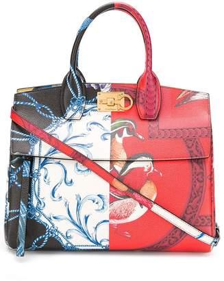 Salvatore Ferragamo The Studio printed bag