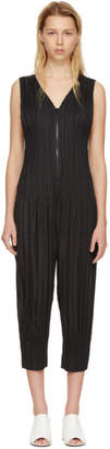 Pleats Please Issey Miyake Black Pleated Fluffy Basics Jumpsuit