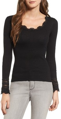 Women's Rosemunde Silk & Cotton Rib Knit Tee $108 thestylecure.com