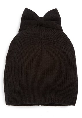 Women's Kate Spade New York Bow Beanie - Black $48 thestylecure.com