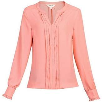 Dorothy Perkins Womens * Jolie Moi Coral Pink Pleated Blouse