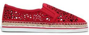 Jimmy Choo Dawn Laser-Cut Suede Espadrille Sneakers