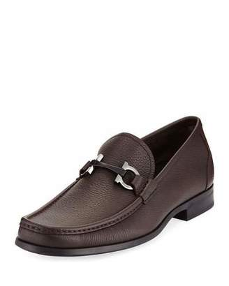 Salvatore Ferragamo Men's Textured Calfskin Gancini Loafer