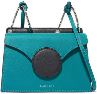 Lente Danse Phoebe Mini Color-block Textured-leather Shoulder Bag - Turquoise