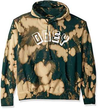 Obey Men's New World Bleached Hooded Sweatshirt