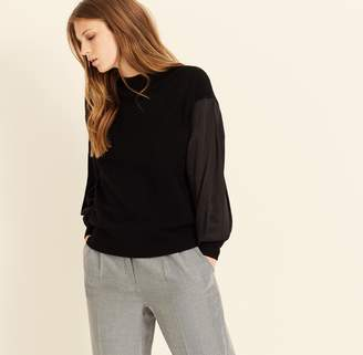 Amanda Wakeley Black Cashmere Jumper with Drawstring Back