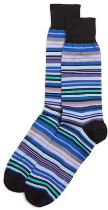 Bloomingdale's The Men's Store at The Men's Store at Bloomingdales Multi-Stripe Socks - 100% Exclusive