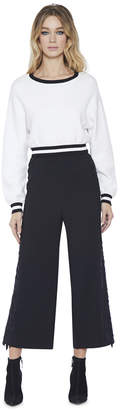 Alice + Olivia Benny Side Cut Out Cropped Pant