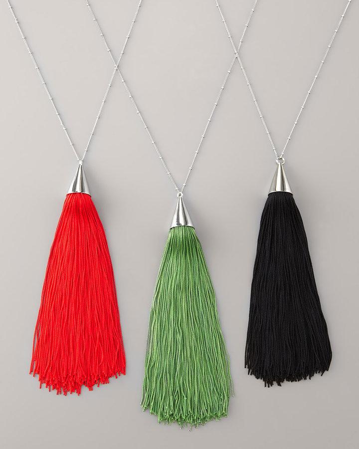 Eddie Borgo Silk Tassel Necklace