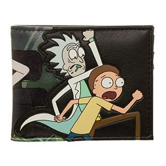 Bioworld Official Men's Adult Swim Rick and Morty Character PU Bi-Fold Wallet