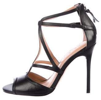 Halston leather Peep-Toe Sandals